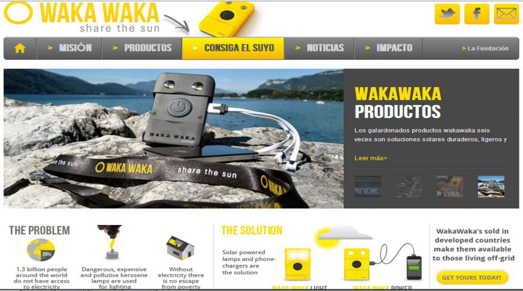 Waka Waka, útil y solidario